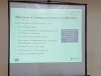Entrepreneurial and innovative HEI criterias